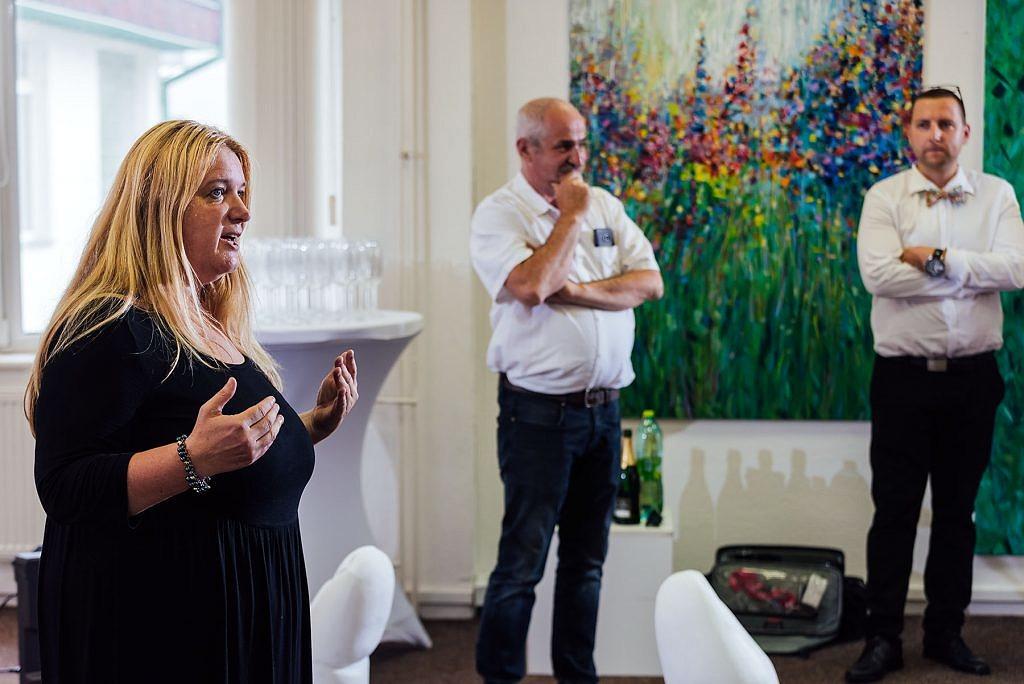Vernisáž výstavy súčasného umenia - Alena Šikulová, Mário Chamraz, Albert Chamraz - vernisáž, umenie - eventovy fotograf